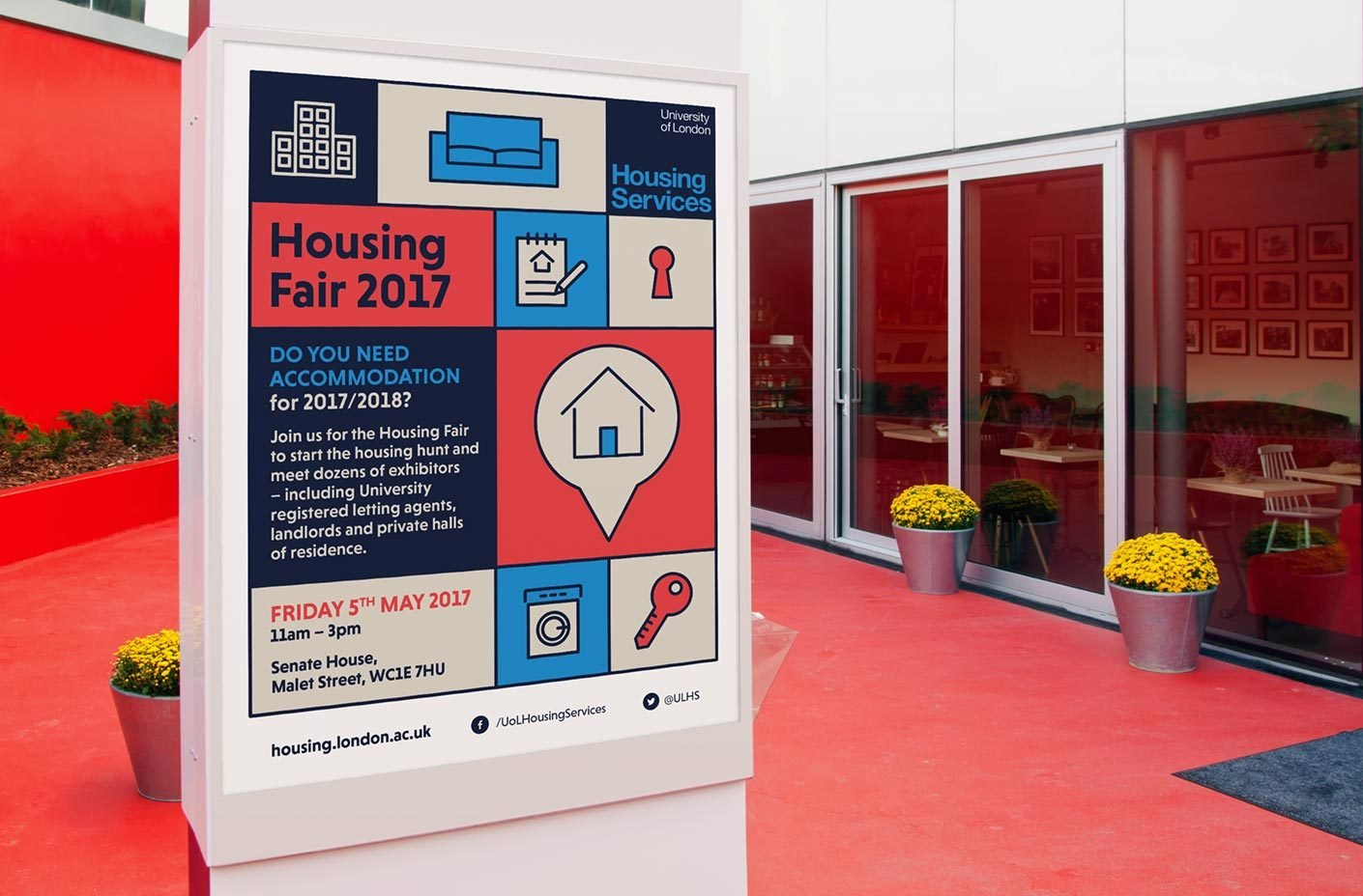 University of London Housing Fair Poster - Education marketing material