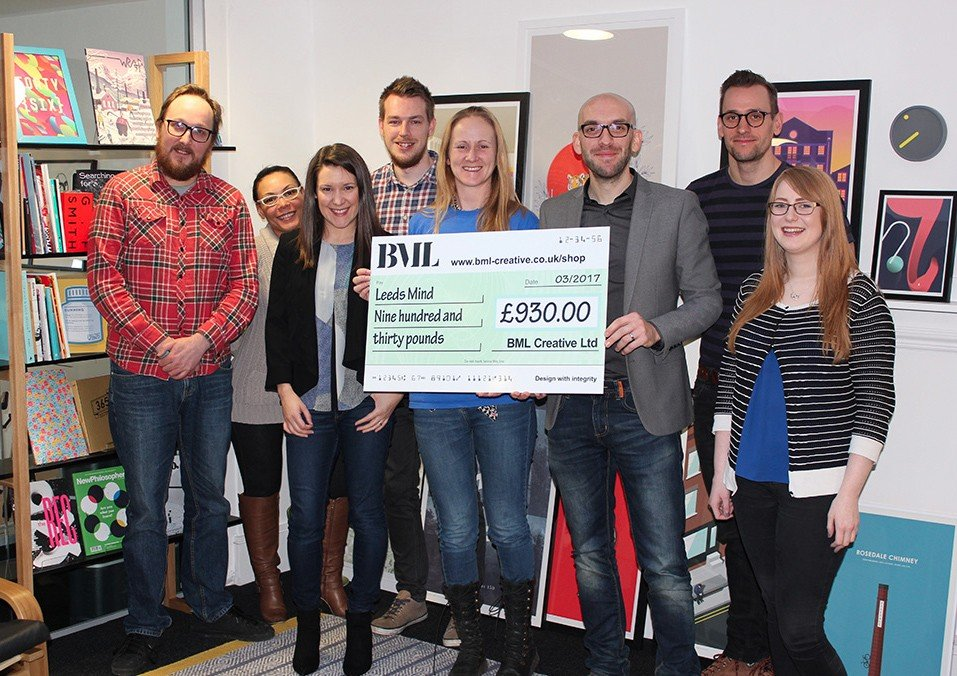 BML make charity donation to Leeds Mind main