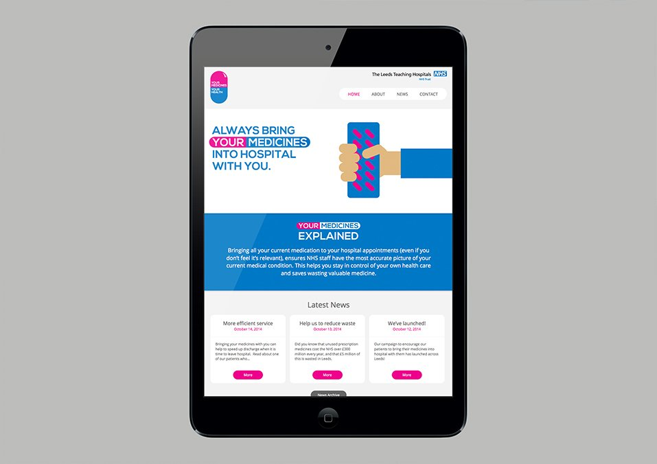 NHS Leeds Teaching Hospitals Trust - Responsive campaign microsite