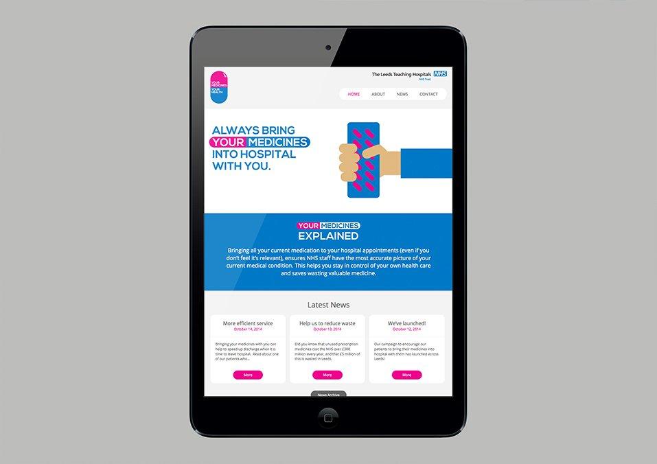 NHS Leeds Teaching Hospitals Trust - Responsive web designers in leeds