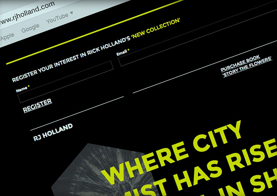 Rick Holland responsive website design in Leeds