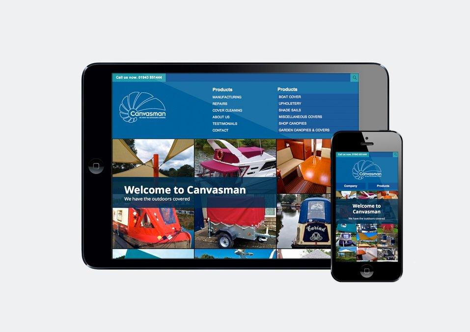 Canvasman - Responsive website design in Otley