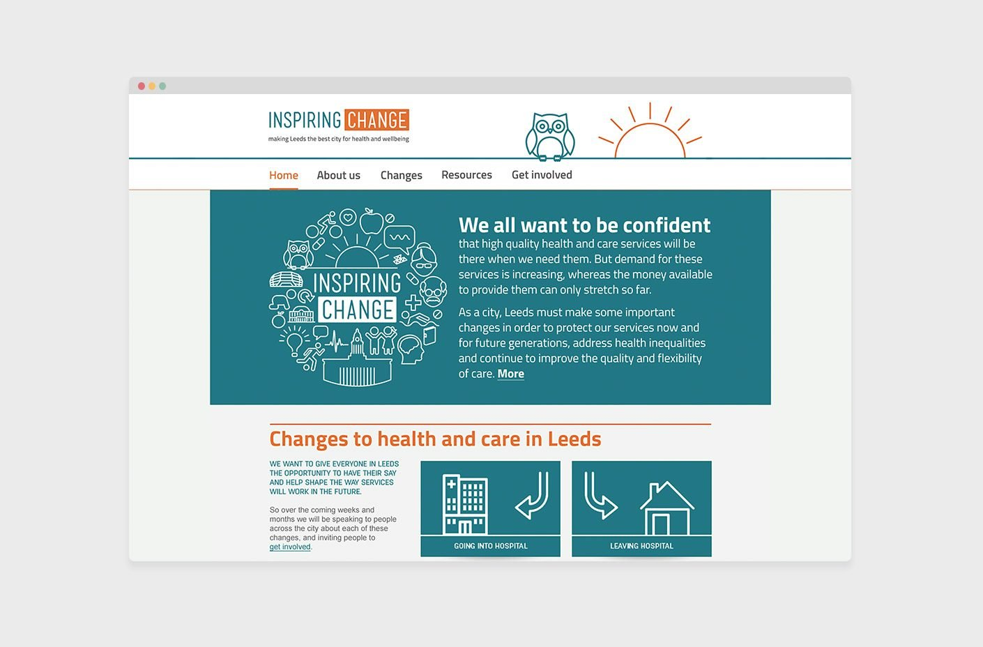 NHS Inspiring Change Leeds website