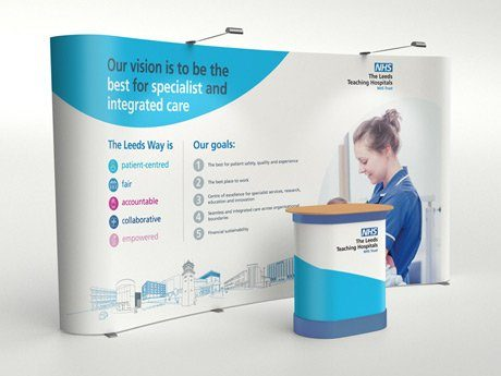highlights - leeds teaching hospitals nhs trust exhibition stand design