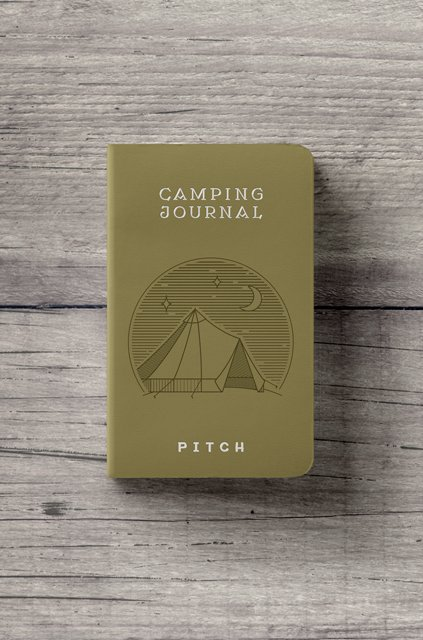 Camping journal, branded notebook for Pitch Tents