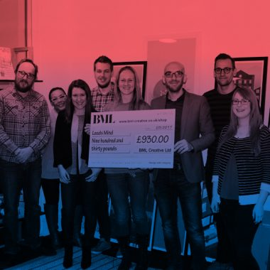 BML make charity donation to Leeds Mind