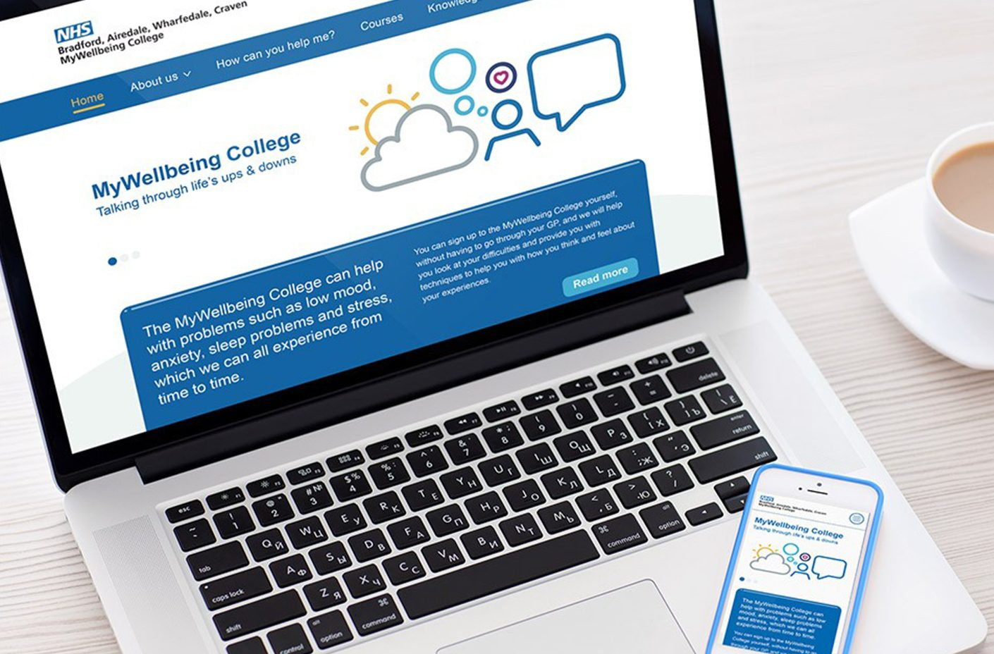 MyWellbeing College Branding and Website
