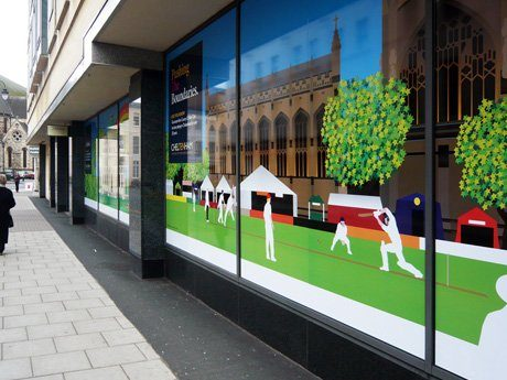 highlights – cheltenham borough council shop window branding campaign