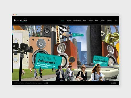 highlights - jellyfish music and audio productions website design