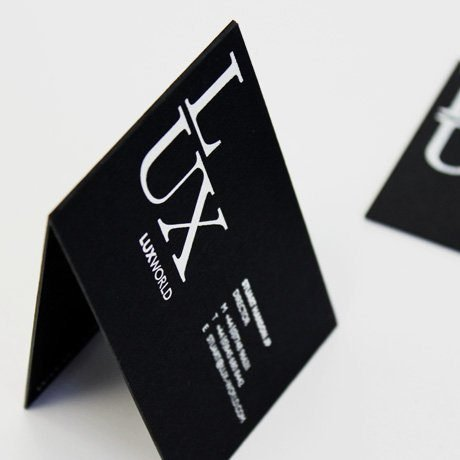 highlights - lux world branding and stationery design