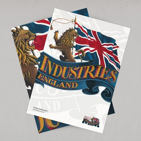 highlights - union industries corporate folder design