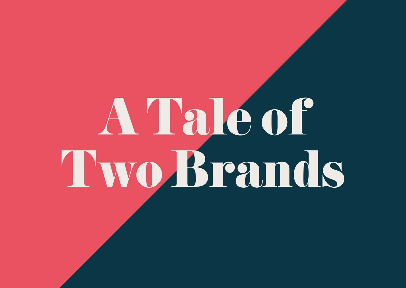 'A Tale of Two Brands' free branding ebook by BML - single image