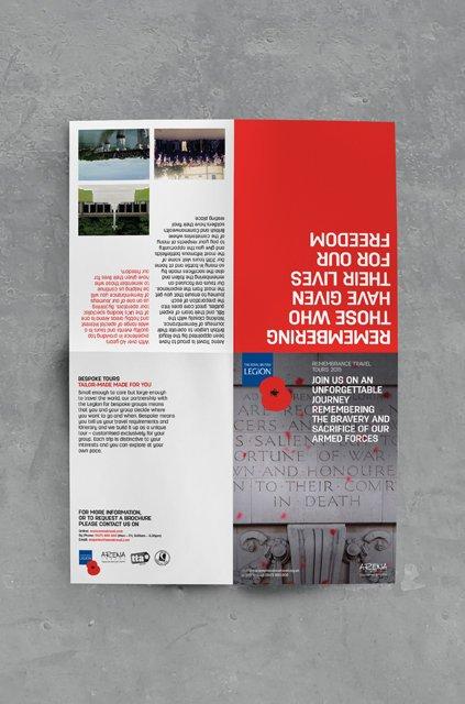 Remembrance Travel tours leaflet