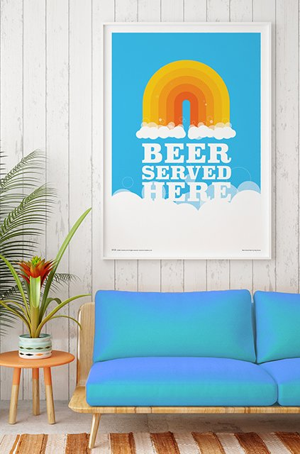 Wall o'Fame Beer Art Prints