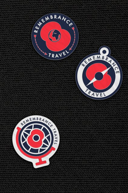 Remembrance Travel pin badges