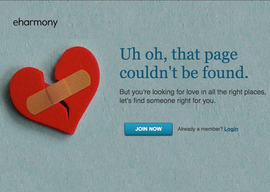 eHarmony's 404 page