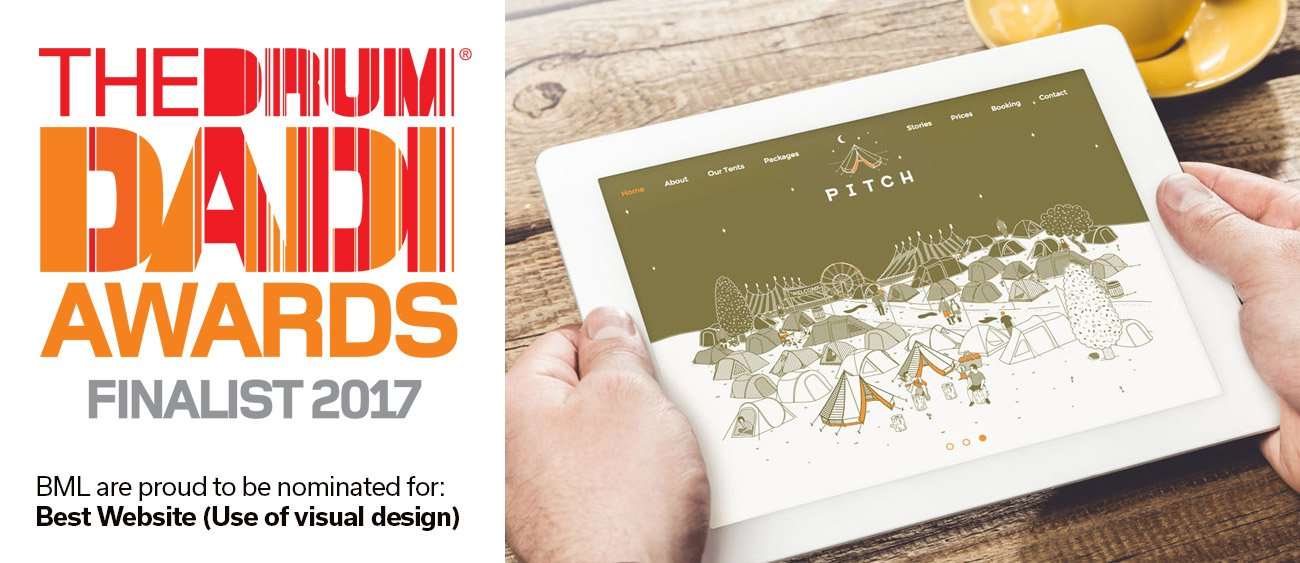 Leeds design agency shortlisted for Best Website (use of visual design) at the 2017 International DADI awards in London