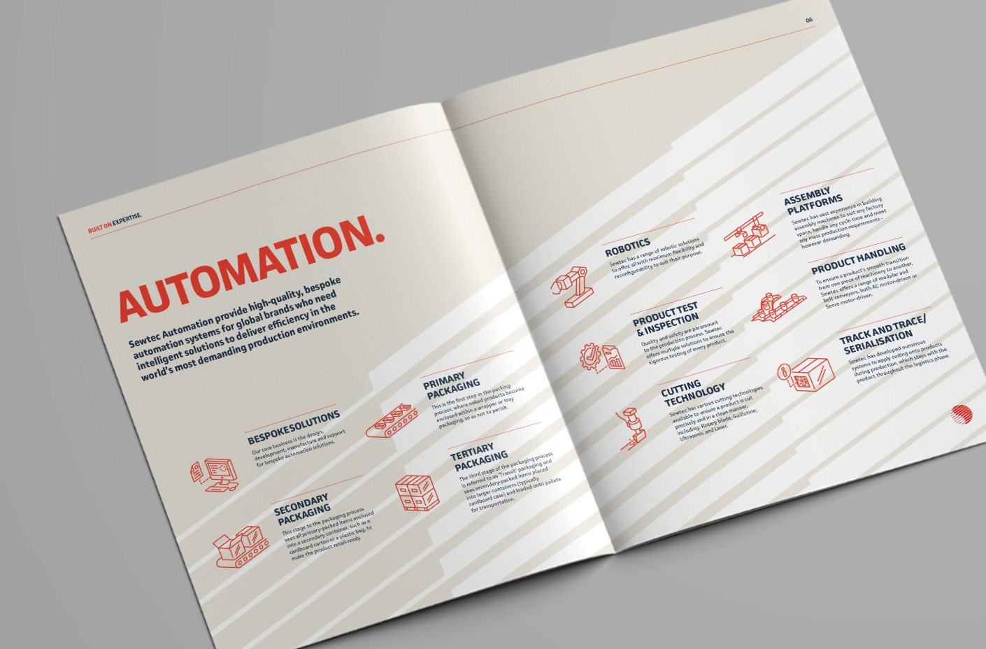 Sewtec Automation Corporate Brochure Spread