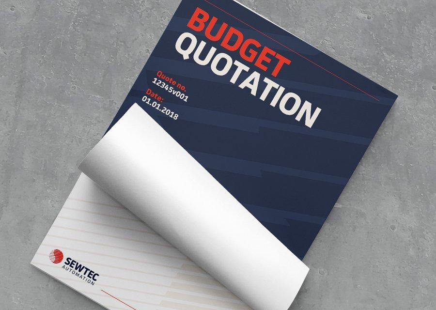 Sewtec quotation document cover