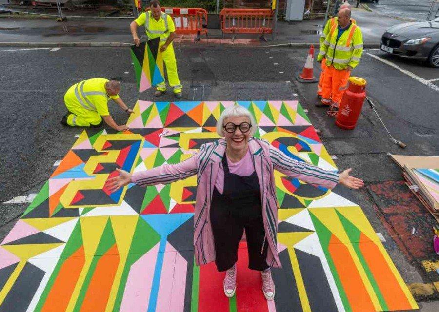 Moran Myerscough - South Bank Leeds Art Installation - Under Construction