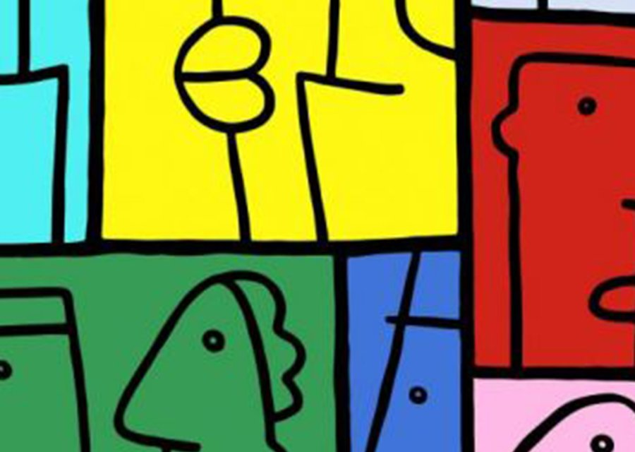Thierry Noir - Colourful Crossings - Art Installation - Southwark Street - London - Close Up