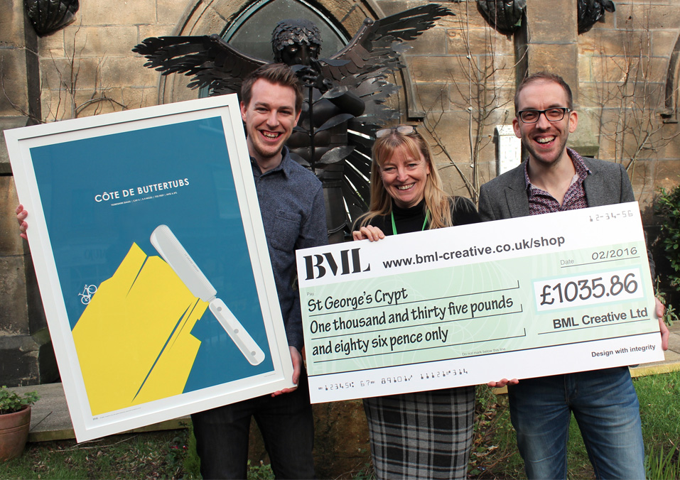 BML donate over £1,000 to St. George's Crypt