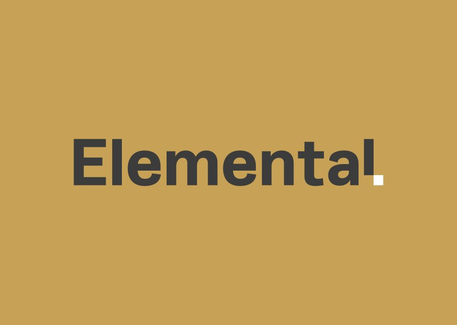 Elemental logo on gold background