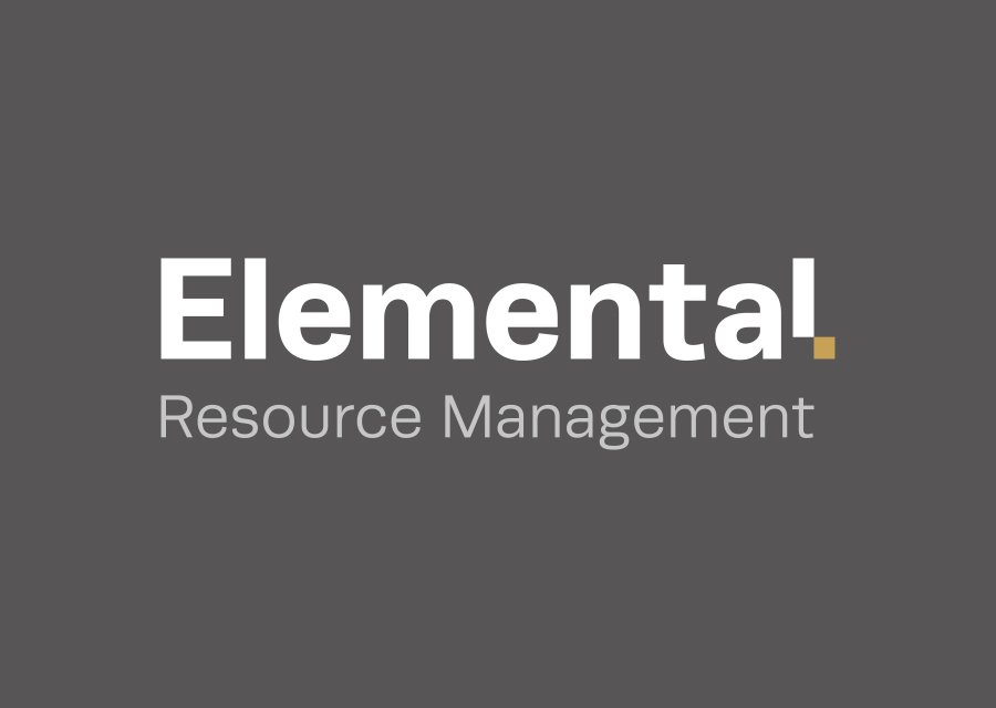 Elemental logo on grey background