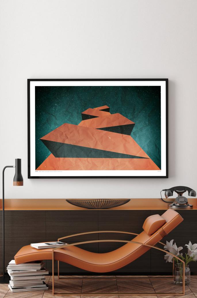 Monolith art print by Rik Kendell