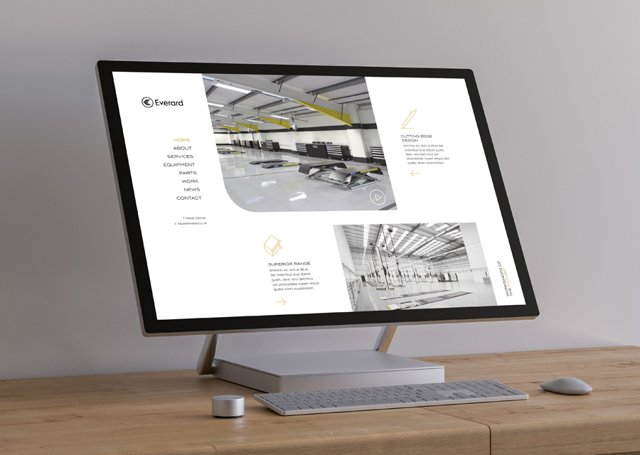 Everard website mockup